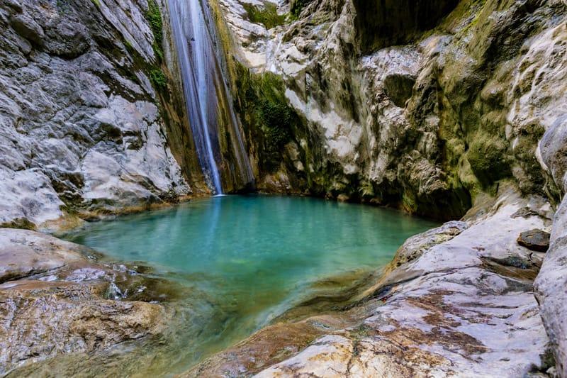 cascate dimosari waterfall Lefkada
