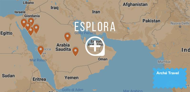 arabia saudita cosa vedere in arabia saudita - mappa