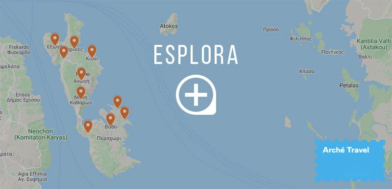 isola itaca cosa vedere mappa