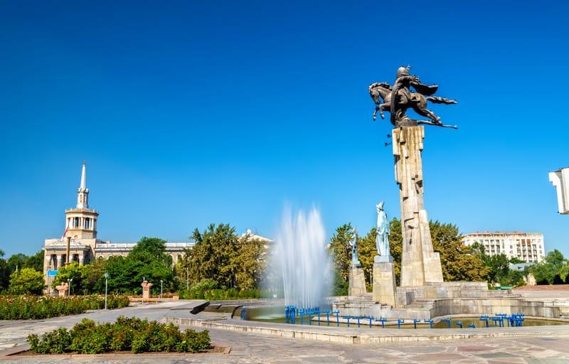 una piazza a Bishkek - Kirghizistan Storia