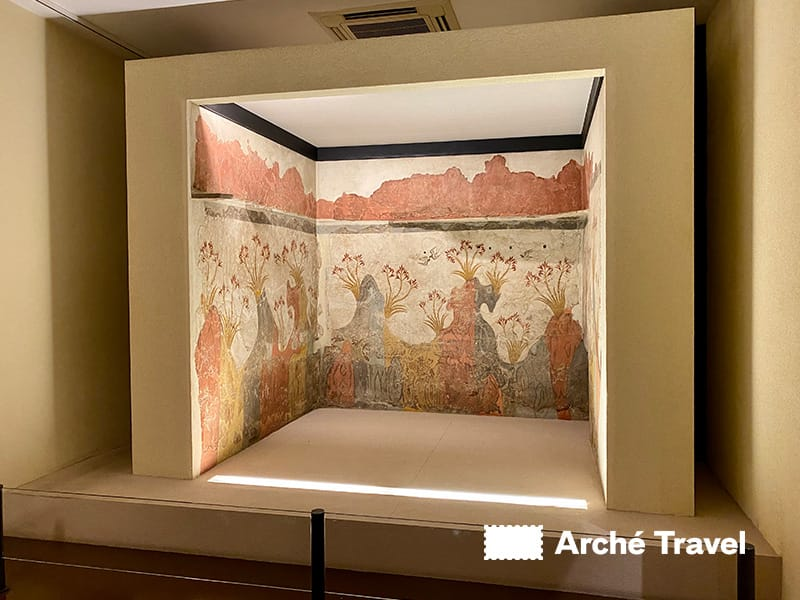 affreschi akrotiri - museo archeologico nazionale atene