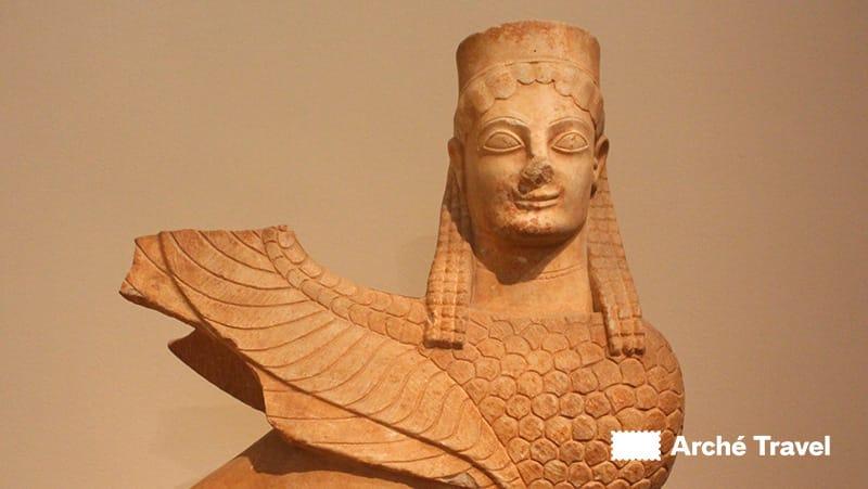sinfge gallerie egizie - museo nazionale archeologico atene