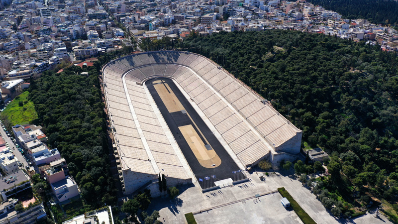 stadio panatenaico panathinaiko vista aerea
