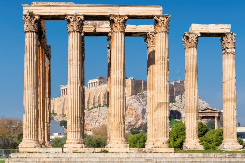 tempio zeus acropoli atene