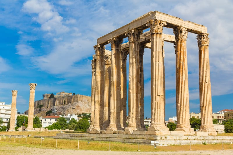 colonne tempio di zeus atene