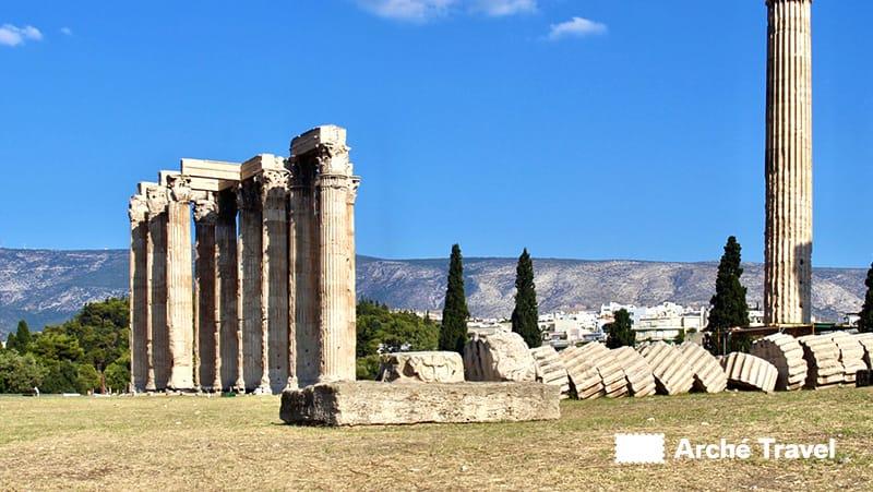 resti colonne tempio di zeus
