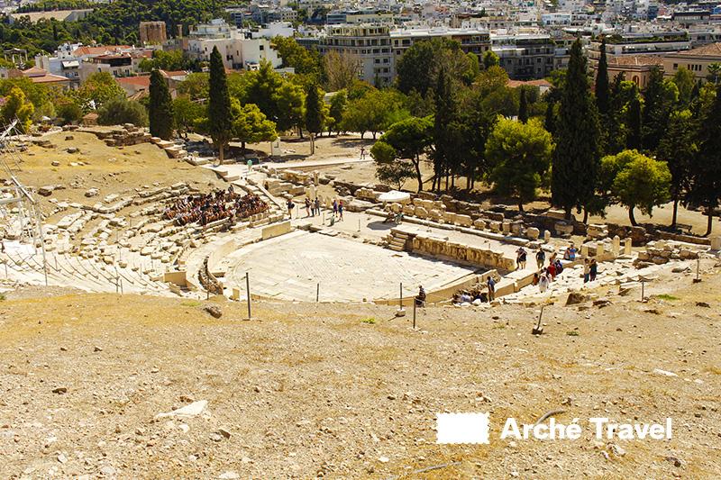 teatro di dioniso cosa vedere ad Atene