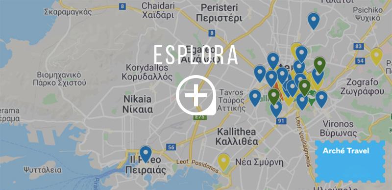 Mappa cosa vedere ad Atene