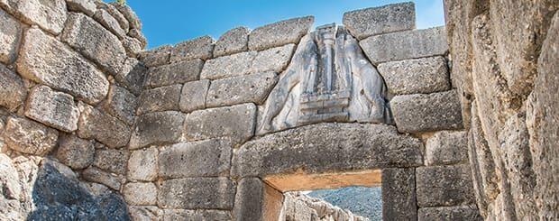 micene porta dei leoni micene grecia