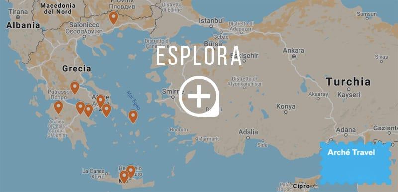 mappa 10 siti archeologici in grecia