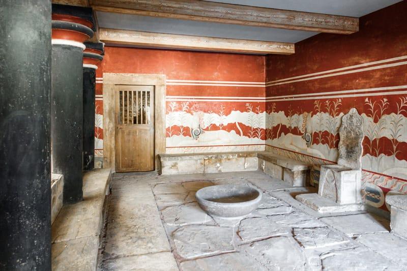 palazzo di cnosso sala del trono