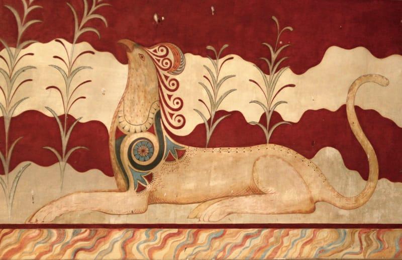 cnosso affreschi sala del trono