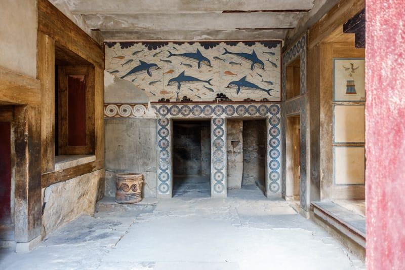 palazzo di cnosso affresco delfini
