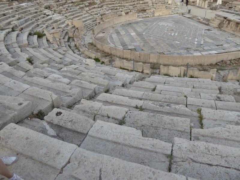 gradinate pietra teatro greco atene