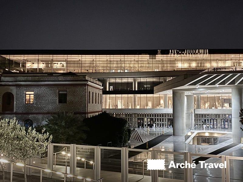 museo di acropoli illuminato