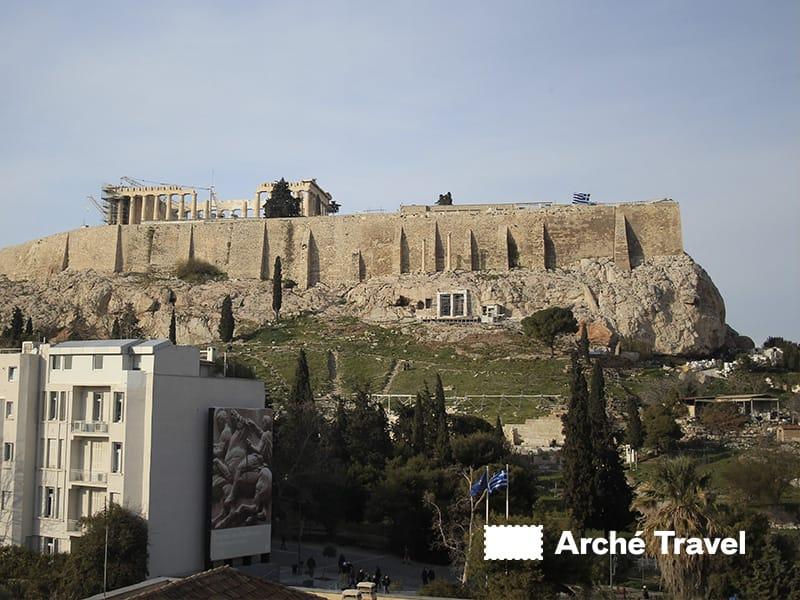 vista interna atene museo acropoli