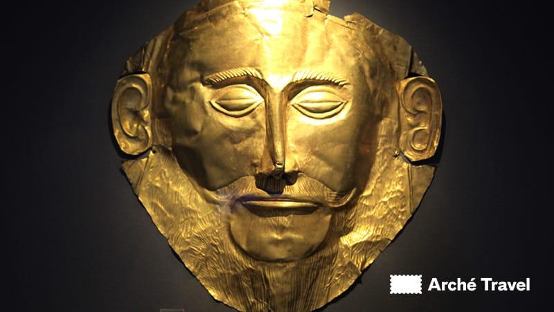 maschera di agamennone micene grecia