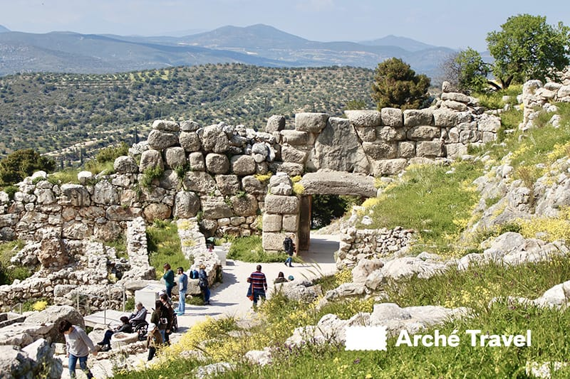 micene grecia mura ciclopiche micene porta dei leoni