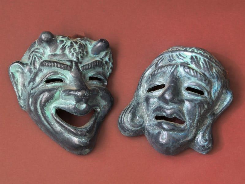 maschere teatro greco