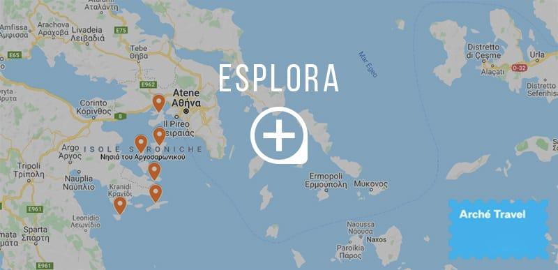 mappa golfo saronico isole