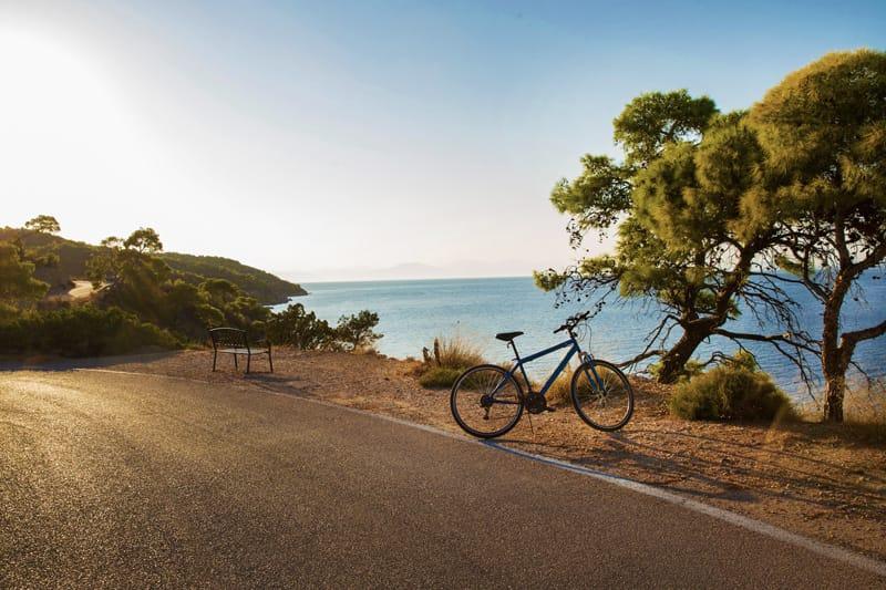 bike tour spetses in bici