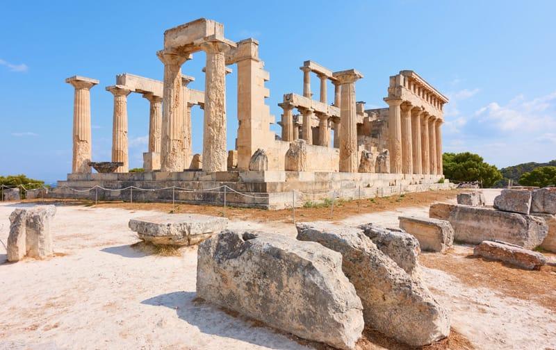 tempio di afaia cultura aegina egina isole saroniche grecia
