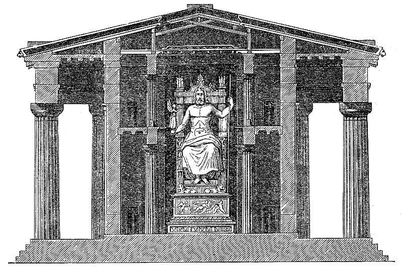 sette meraviglie del mondo antico olimpia statua di zeus