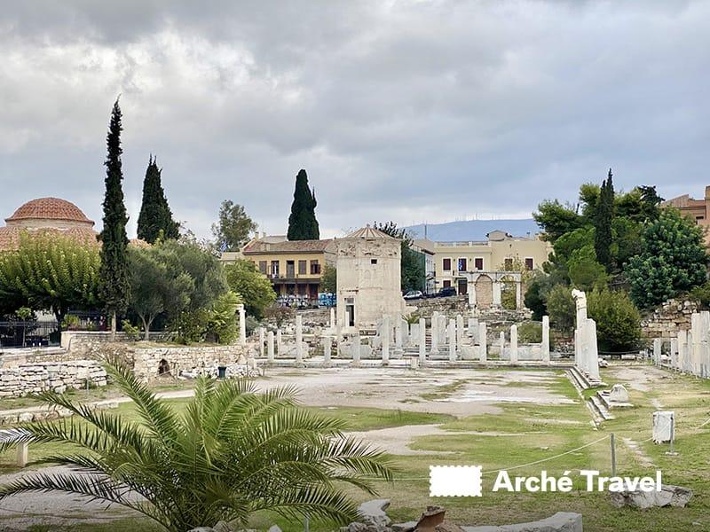 piazza centrale, agorà romana atene