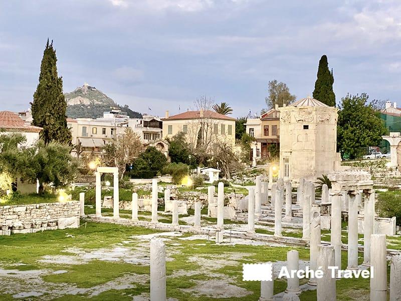 scavi archeologici agorà romana atene