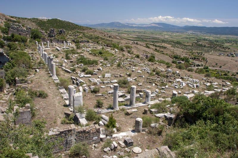 Pergamo sito archeologico tempio di atena