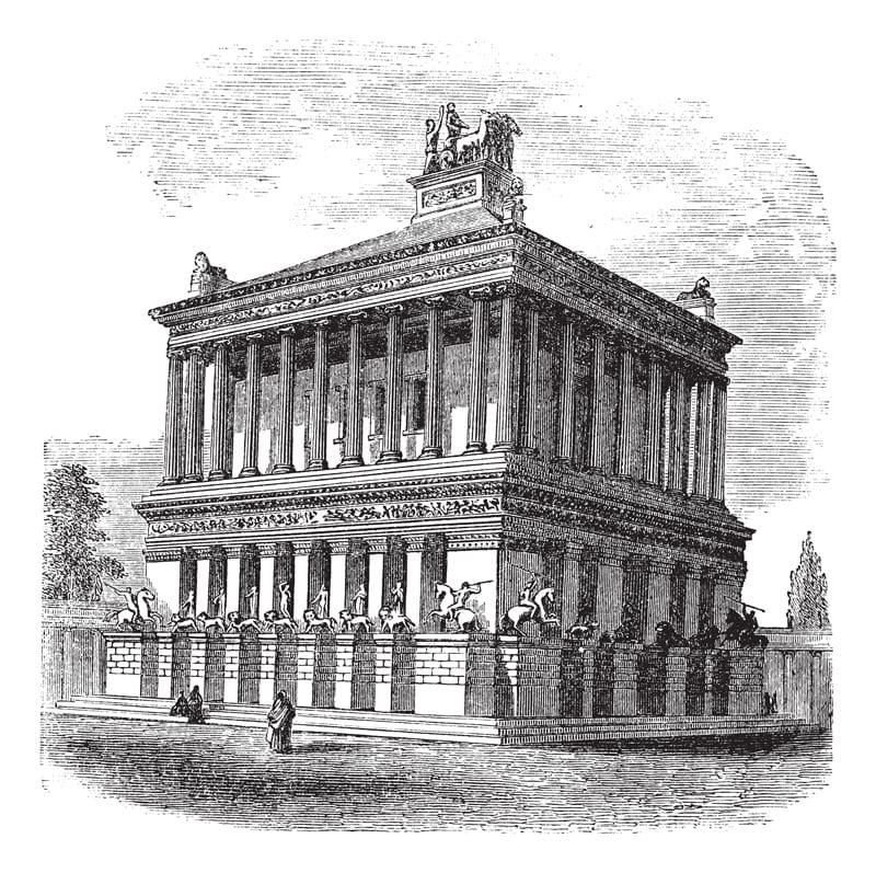 mausoleo alicarnasso turchia bodrum