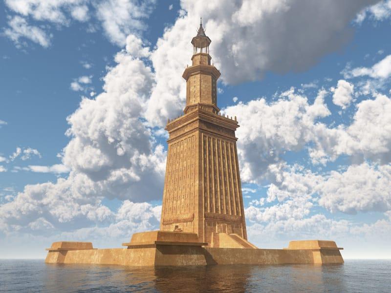 Faro di Alessandria antiche sette meraviglie del mondo