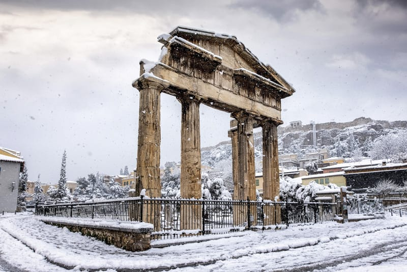 colonne doriche porta Atena
