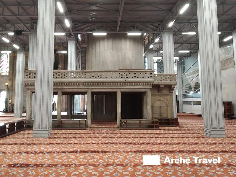 mihrab moschea blu