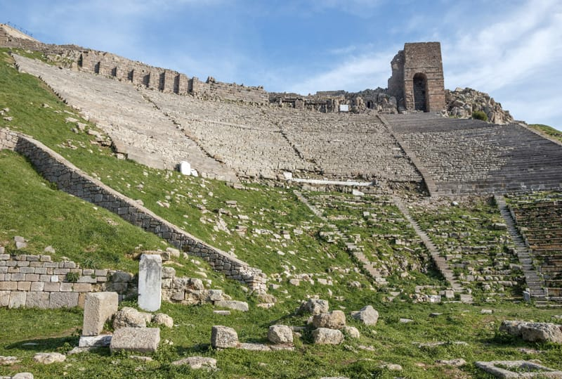 Tempio di Dionisio e teatro pergamo turchia