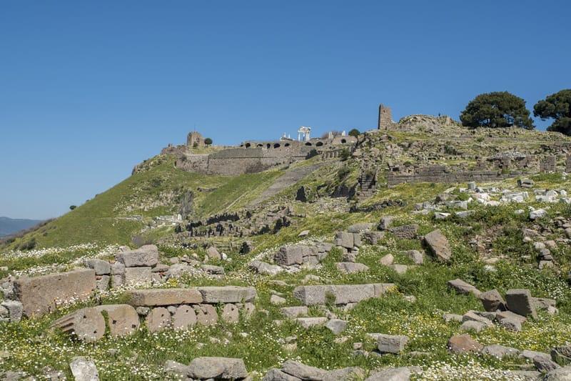 Tempio di Demetra sito archeologico di pergamo turchia