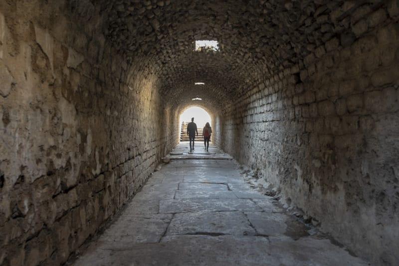 Tunnel dell'asklepion di pergamo
