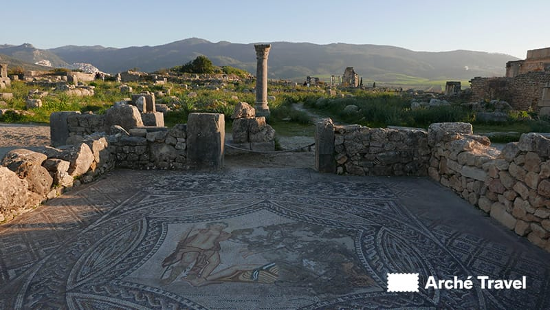 marocco mosaico bacco e arianna