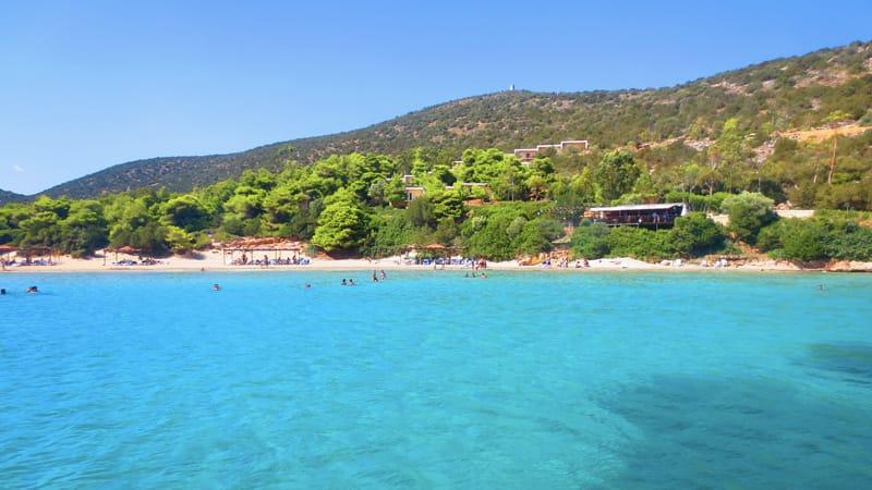 area di maratona dove andare al mare ad atene