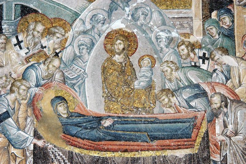Mosaico Vergine Maria