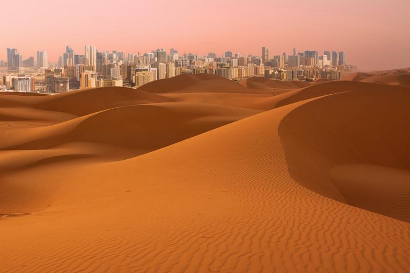 Le Dune nel deserto di Dubai