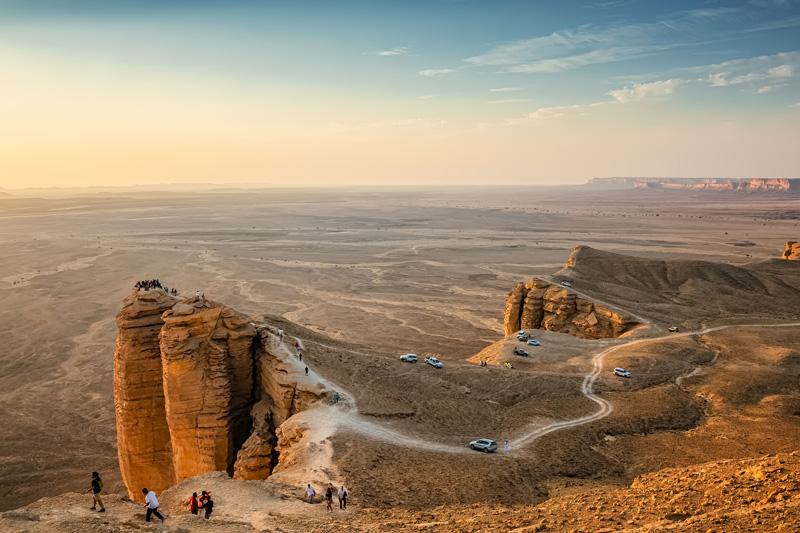 La suggestiva Edge of the World, come entrare in arabia saudita