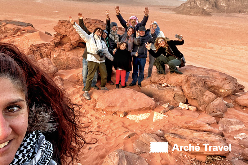 I nostri clienti in cima alle dune